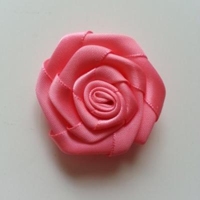 Fleur de satin plate  50mm rose saumoné