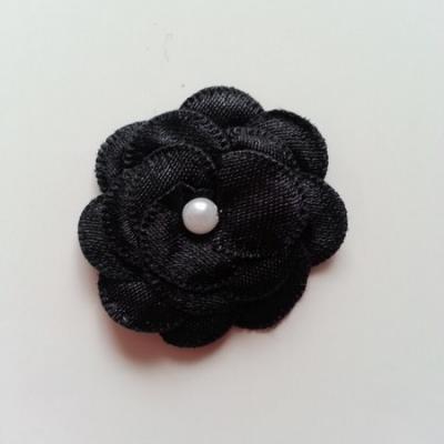 fleur satin 35mm noir