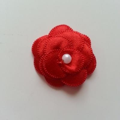 fleur satin 35mm rouge