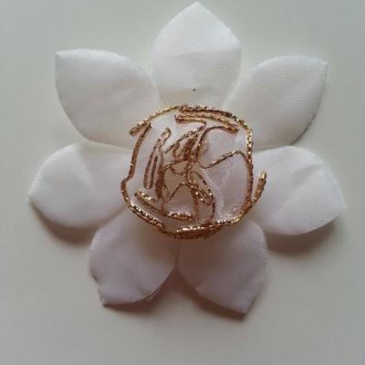 Applique fleur   65mm blanc