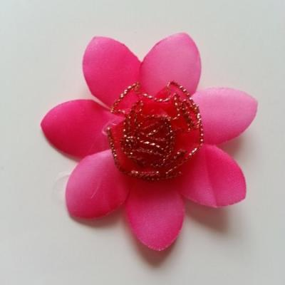 Applique fleur   65mm rose fuchsia