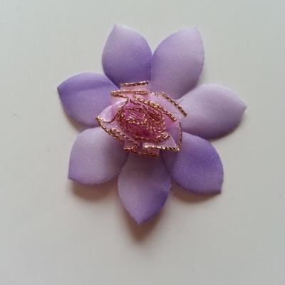 Applique fleur   65mm mauve