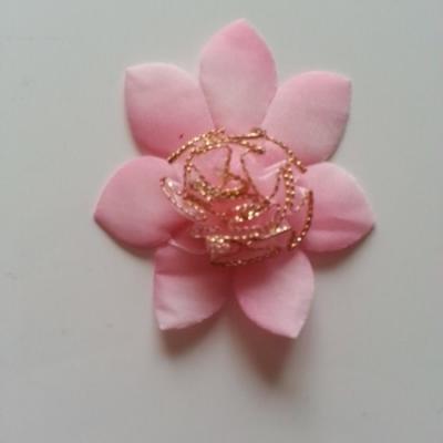 Applique fleur   65mm rose