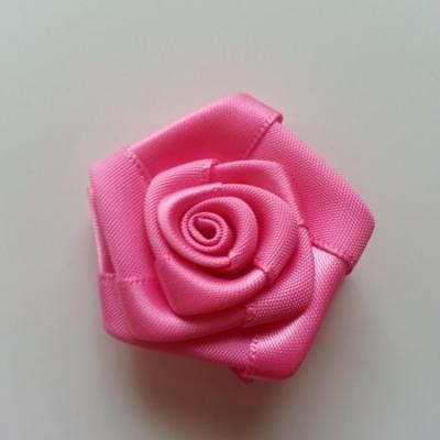Fleur satin  40mm rose bonbon
