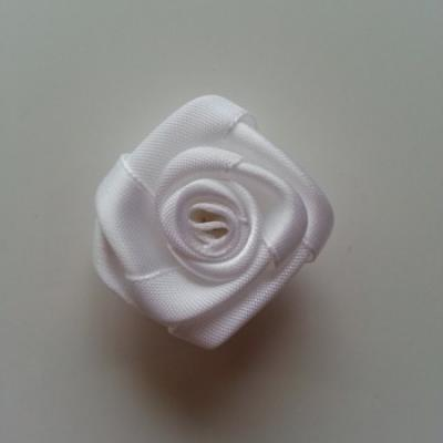 Fleur satin  40mm blanc