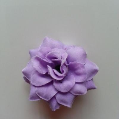 Fleur  en tissu  50mm mauve