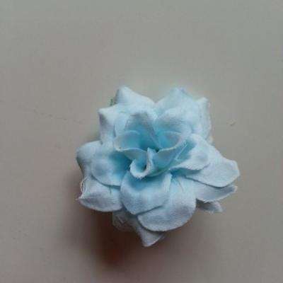 Fleur  en tissu  50mm bleu ciel