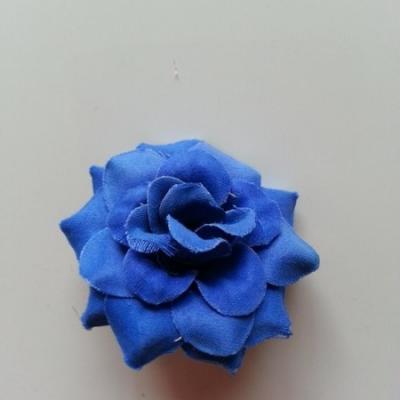 Fleur  en tissu  50mm bleu roi