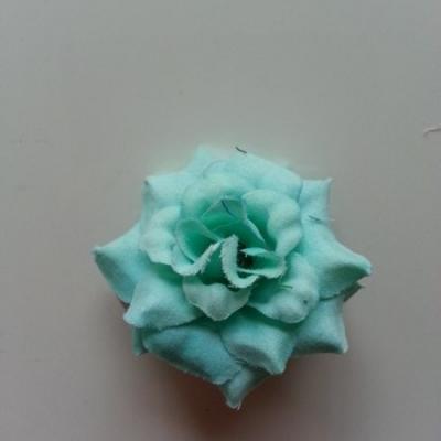 Fleur  en tissu  50mm verte