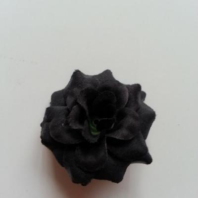 Fleur  en tissu  50mm noir
