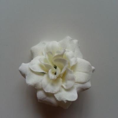 Fleur  en tissu  50mm ivoire