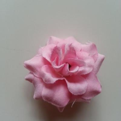 Fleur  en tissu  50mm rose