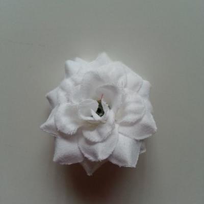 Fleur  en tissu  50mm blanc
