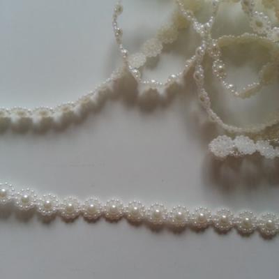 0.5 metre de ruban cabochon 10mm ivoire