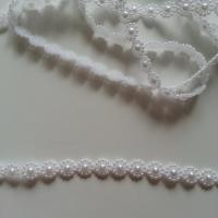 0.5 metre de ruban cabochon 10mm blanc