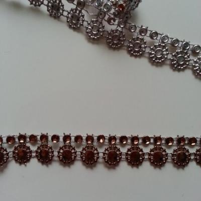 0.5 metre de ruban cabochon marron 13mm