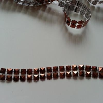 0.5 metre de ruban cabochon marron 10mm
