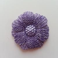 Applique fleur toile 45mm violet
