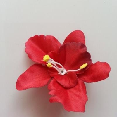 Orchidée  en tissu   70mm rouge