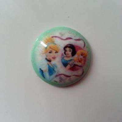 cabochon en résine  princesses  25mm