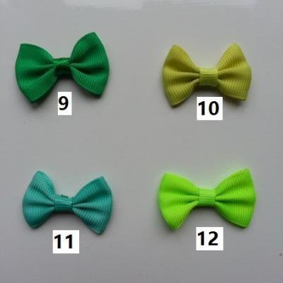 Noeud ruban grosgrain vert 35*23mm n°9