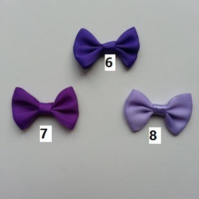 Noeud ruban grosgrain violet  35*23mm n°6