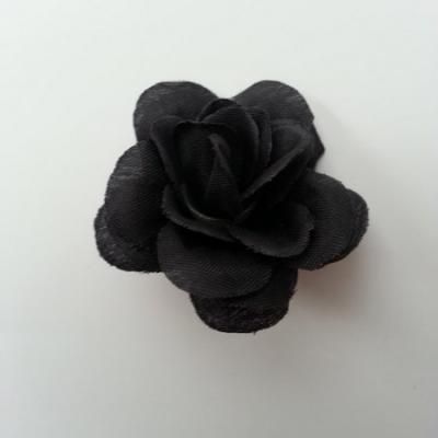 Fleur  artificielle en tissu  40mm noir