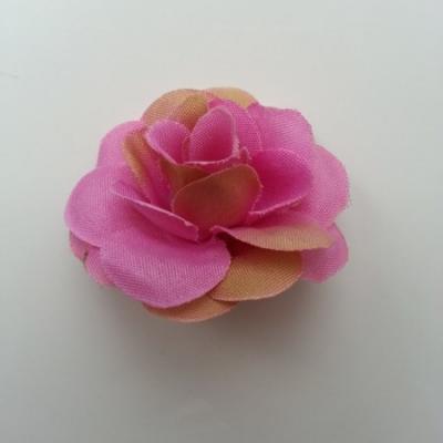 Fleur  artificielle en tissu  40mm rose et beige