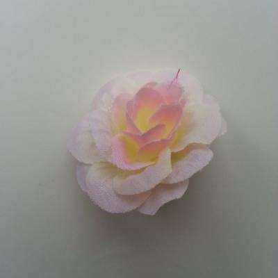 Fleur  artificielle en tissu  40mm ivoire et rose pâle