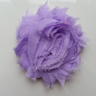 Applique fleur chabby   65mm mauve