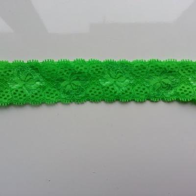 Bandeau dentelle 35mm vert