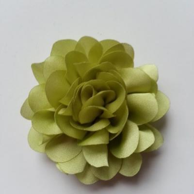 fleur en mousseline de soie 60mm vert