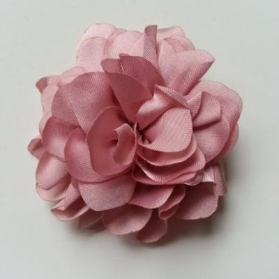 fleur en mousseline de soie 60mm vieux rose