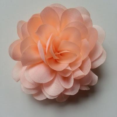 fleur en mousseline de soie 60mm pêche