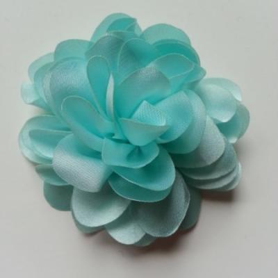 fleur en mousseline de soie 60mm vert pastel