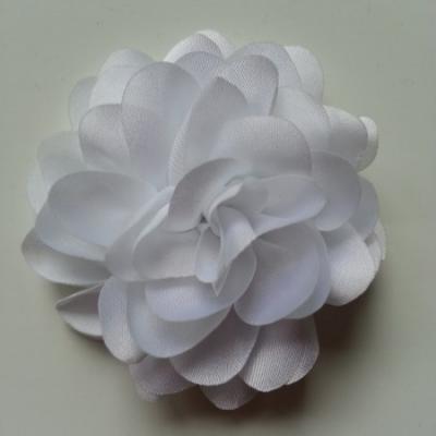 fleur en mousseline de soie 60mm blanc