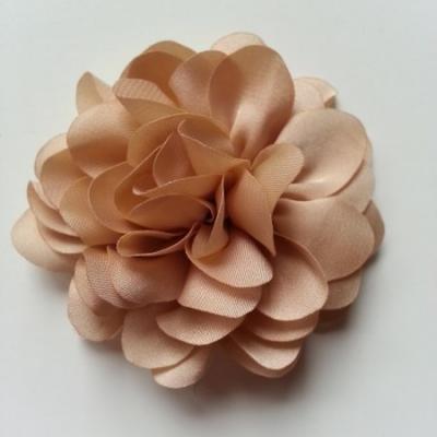 fleur en mousseline de soie 60mm beige