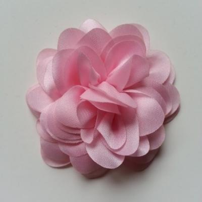fleur en mousseline de soie 60mm rose