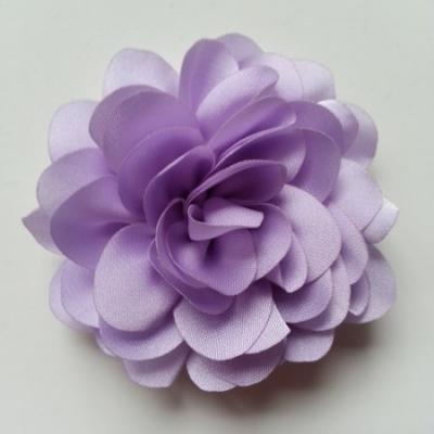 fleur en mousseline de soie 60mm mauve