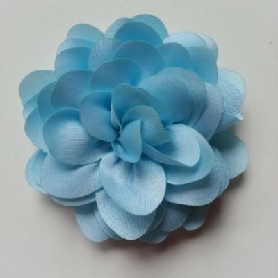 fleur en mousseline de soie 60mm bleu ciel