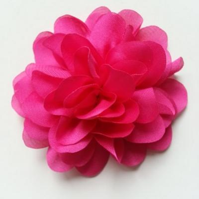 fleur en mousseline de soie 60mm rose fuchsia