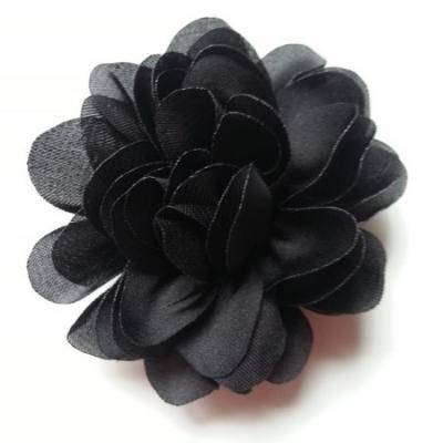 fleur en mousseline de soie 60mm noir
