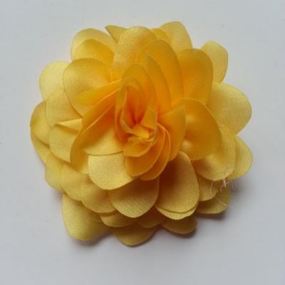 fleur en mousseline de soie 60mm jaune