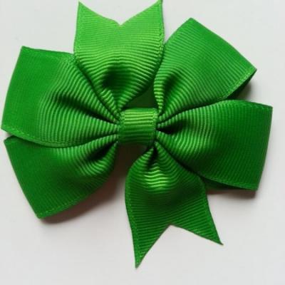 Gros noeud en ruban gros grain  80mm vert sapin