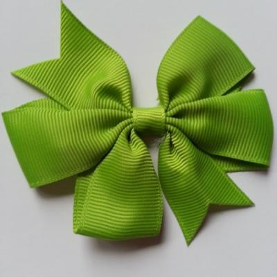 Gros noeud en ruban gros grain  80mm vert olive