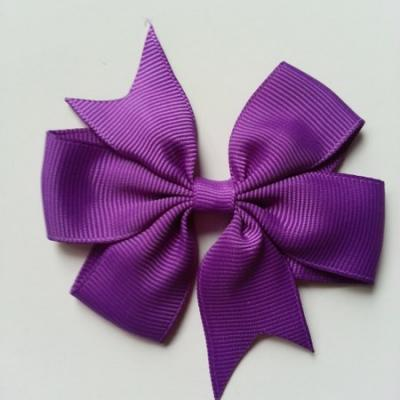 Gros noeud en ruban gros grain  80mm violet