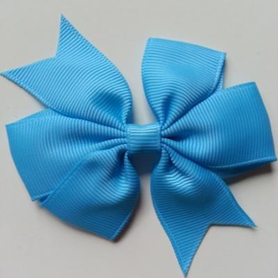 Gros noeud en ruban gros grain  80mm bleu turquoise