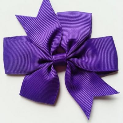 Gros noeud en ruban gros grain  80mm violet foncé