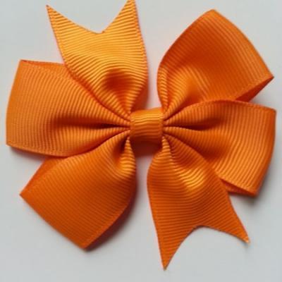 Gros noeud en ruban gros grain  80mm orange