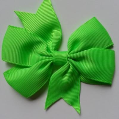 Gros noeud en ruban gros grain  80mm vert